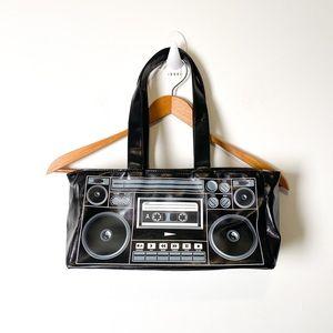 Retro Cassette Baguette Shoulder Bag Purse
